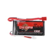 Wild Scorpion 7.4V 1500mAh 25C MAX 35C 2S T Plug Li-po Battery for RC Car Airplane Helicopter Part