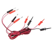 GoolRC Universial 2Pcs Red and Black Colors 0.2mm 0.4mm Banana Clip to Grappling Hook Clip 1m Plastic Test Supportive Cable