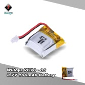 Original WLtoys V646 RC Part 3.7V 100mAh Lipo Battery V646-05(VA18) for WLtoys V646 V676 Hubsan H111 Cheerson CX-10 CX-10A JJRC H1 H7 RC Quadcopter