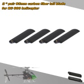 2 * Pairs Carbon Fiber 95mm Tail Blades for  Align Trex 600 RC Helicopter