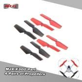 4 Pairs Original MJX X300 Part Propellers for MJX X300 X300C RC Quadcopter