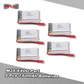 Original MJX X400 Part 3.7V 750mAh Lipo Battery for MJX X400-V2 X300C X800 RC Quadcopter