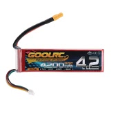 GoolRC 6S 22.2V 4200mAh 30C LiPo Battery with XT60 Plug for RC Helicopter Car Boat Truck