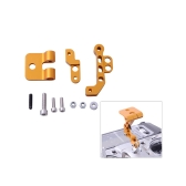 CNC Aluminum Alloy FPV Monitor Mounting Bracket lengthways for DJI Transmitter Quadcopter FPV Golden(FPV Monitor Mounting Bracket,DJI FPV Monitor Mounting Bracket)