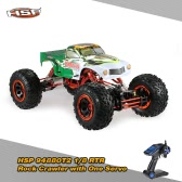 Original HSP 94880T2 1/8 2.4Ghz 2CH 4WD Electronic Powered Brushed Motor RTR Rock Crawler RC Car with One Servo