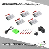 5pcs 3.7V 500mAh Li-po Battery with 5 in 1 Charger Set for Syma X5SW X5SC X5HW X5HC RC Drone Quadcopter