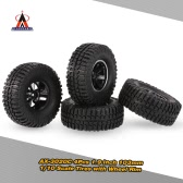 4Pcs AUSTAR AX-3020C 1.9 Inch 103mm 1/10 Scale Tires with Wheel Rim for 1/10 D90 SCX10 CC01 RC Rock Crawler