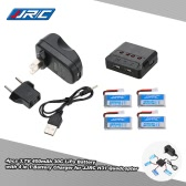 4pcs Original JJRC 3.7V 400mAh 30C Lipo Battery with 4 in 1 Battery Charger for JJRC H31 GoolRC T6 RC Quadcopter