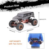Original HSP 94180T2 1/10 2.4Ghz 3CH 4WD Eletronic Powered Brushed Motor RTR Rock Crawler RC Car with Two Servo