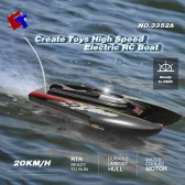 Original Create Toys 3352A 27MHz 20KM/H High Speed Electric RC Racing Boat