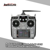 Original Mode 2 RadioLink AT10Ⅱ 2.4G 10CH Remote Control System Transmitter w/ R10DS Receiver and PRM-01 Voltage Return Module