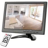 "10.1"" HD 1280*800 LED IPS Monitor with HDMI/VGA/BNC/AV/USB Ports and Remote Control support HDMI 1080P/1080i Speaker U Disk PAL/NTSC Adaptive for CCTV Camera Surveillance System"