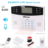 KKMOON 106 Wired/Wireless Defense Zones GSM SMS Home Security Alarm System Door Sensor Kit