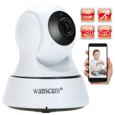 Wanscam HD 720P Megapixels Wireless WiFi Pan Tilt Network IP Cloud Indoor Camera support PTZ TF Card Record 2-way Talk P2P Android/iOS APP IR-CUT Filter Infrared Night View Motion Detection Email Alarm Browser View for CCTV Surveillance Security System