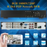 8CH H.264 P2P 1080N/720P Network DVR CCTV Security Phone Control Motion Detection Email Alarm for Surveillance Camera