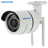 szsinocam Full HD 2.0MP Megapixels 1080P 2.4G/5.8G Wireless Wifi Camera CCTV Surveillance Security P2P Network IP Cloud Indoor Outdoor Bullet Camera support Onvif2.4 Weatherproof IR-CUT Filter Infrared Night Vision Motion Detection Email Alarm Android/iOS APP Free CMS 36LED