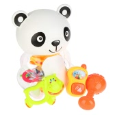 8 Pieces Baby Rattle and Teether Toy Play Set Infant Teething Toys