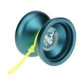 Professional Magic Yoyo N12 Aluminum Alloy Metal Yoyo 8 Ball KK Bearing with Spinning String for Kids Lake Blue