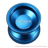 Ametoys V4 Professional Magic Yoyo High-speed Aluminum Alloy Yo-yo CNC lathe KK Bearing with Spinning String for Boys Girls Children Kids Blue