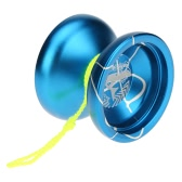 Professional Magic Yoyo N12 Aluminum Alloy Metal Yoyo 8 Ball KK Bearing with Spinning String for Kids Green & Silver