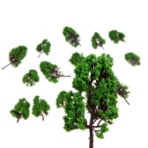 16pcs HO Z Scale Model Trees for Railroad House Park Street Layout