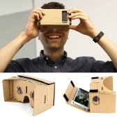 "Private VR DIY Cardboard Box Virtual Reality Glasses Headset 3D VR Movie Games Head-Mounted Universal for iPhone Samsung 3.5"" ~ 5.5"" Smart Phones"