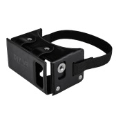 DIY VR 1.0 Virtual Reality Glasses DIY PU Leather Cardboard 3D VR Box Glasses Headset Universal for Android iOS Windows Smart Phones with  4 to  5.5 Inches Black