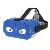 DIY VR2 Virtual Reality Glasses DIY PU Leather Cardboard 3D VR Box Glasses Headset Universal for Android iOS Windows Smart Phones with  4 to 6  Inches Blue