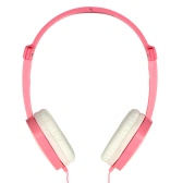CLAMSHINE GS-J1 3.5mm Wired Headphone Over-ear Headset Hands-free with Mic for  Smart Phones Computers Pink