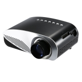 Mini LED Projector  HD Contrast Ratio 500:1 with HDMI/SD/USB/Audio/VGA/AV for Home Theater Notebook Smart phones US Plug