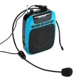 BOAS BQ-850 3 in 1 Multifunctional Waistband Loudspeaker Amplifier  Micro SD/TF Card FM MP3 Playing Music Megaphone For Guide Teacher Salesperson Black  EU Plug