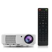 "RD-804 Full Color 150"" LED Projector 2500 Lumens 1080P 1300:1 Contrast Ratio Projection Machine with HDMI VGA AV USB Remote Controller for Notebook Laptop Tablet PC Smartphone EU Plug"