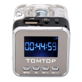 Mini Digital Portable Music MP3/4 Player Micro SD/TF USB Disk Speaker FM Radio Black
