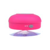 Mini HIFI Wireless Bluetooth 3.0 Handsfree Mic Suction Speaker Shower Car Water Resistant for iPhone iPad Pink