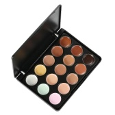 Anself 15 Color Make Up Cream Facial Camouflage Concealer Cosmetic Tool Mini Size for Women Safari