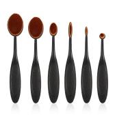 6pcs Oval Makeup Brush Set Soft Foundation Cosmetic Toothbrush Brushes Contour Concealer Brush Kits Makeup Tool