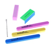 6Pcs Nail Art Sanding Files Buffer Set Sponge Polishing Block Kit Manicure Pedicure Tool