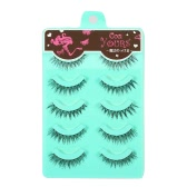 5 Pairs Upper Eyelashes 0.07mm False Eyelash Extension Hand-made Fake Lashes Cross Lashes Thick & Long Makeup Tool