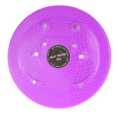 Anself Waist Twisting Disc Figure Trimmer Rotating Board Ankle Body Aerobic Exercise Reflexology Magnets Purple
