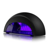 LED UV ランプ プロフェッショナル マニキュア LED ライト タイマー 30 代 60 年代 90 年代 30 m 白・黒手肌自動誘導 EU プラグをアクティブにします。