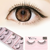 10 Pairs Cross Charming Soft False Eyelashes Eye Lash Synthetic Fiber