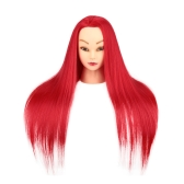 "27"" Hairdressing Training Head Model Dummy Head Salon Model Tool Long Hair with Clamp"