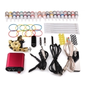 2015 Hot Sale Complete Tattoo Set 1 Tattoo Machine for Liner and Shader Converter for Free