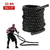 TOMSHOO Battle Rope Workout Training Undulation Rope Exercise Fitness Rope 38mm Diameter 10m / 12m / 15m Length