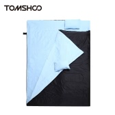 "TOMSHOO 86""x60"" Double Sleeping Bag 2 Person Outdoor Camping Hiking Sleeping Bag with 2 Pillows 0℃ ~ -5℃ ~ -10℃"