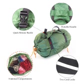 LIXADA Ultra-light Multi Compartments Stuff Sack for Outdoor Adventures Camping Hiking Cycling