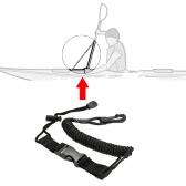 1 個コイル パドル リーシュ カヤック カヌーの安全棒のひも釣りロッド ストラップ ストレッチ 150 cm