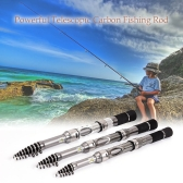 Telescopic Carbon Fiber Fishing Rod Retractable Fishing Pole Travel Fishing Rod Kit