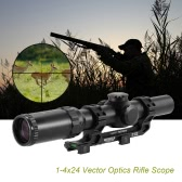1-4x24 Vector Optics Long Eye Relief RifleScope 30mm Monotube with Mount High Quality Clear Vie