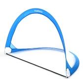 TOMSHOO 2pcs Pop Up Soccer Goal Portable Soccer Nets with Carry Bag Sizes 2.3feet / 4feet / 6feet